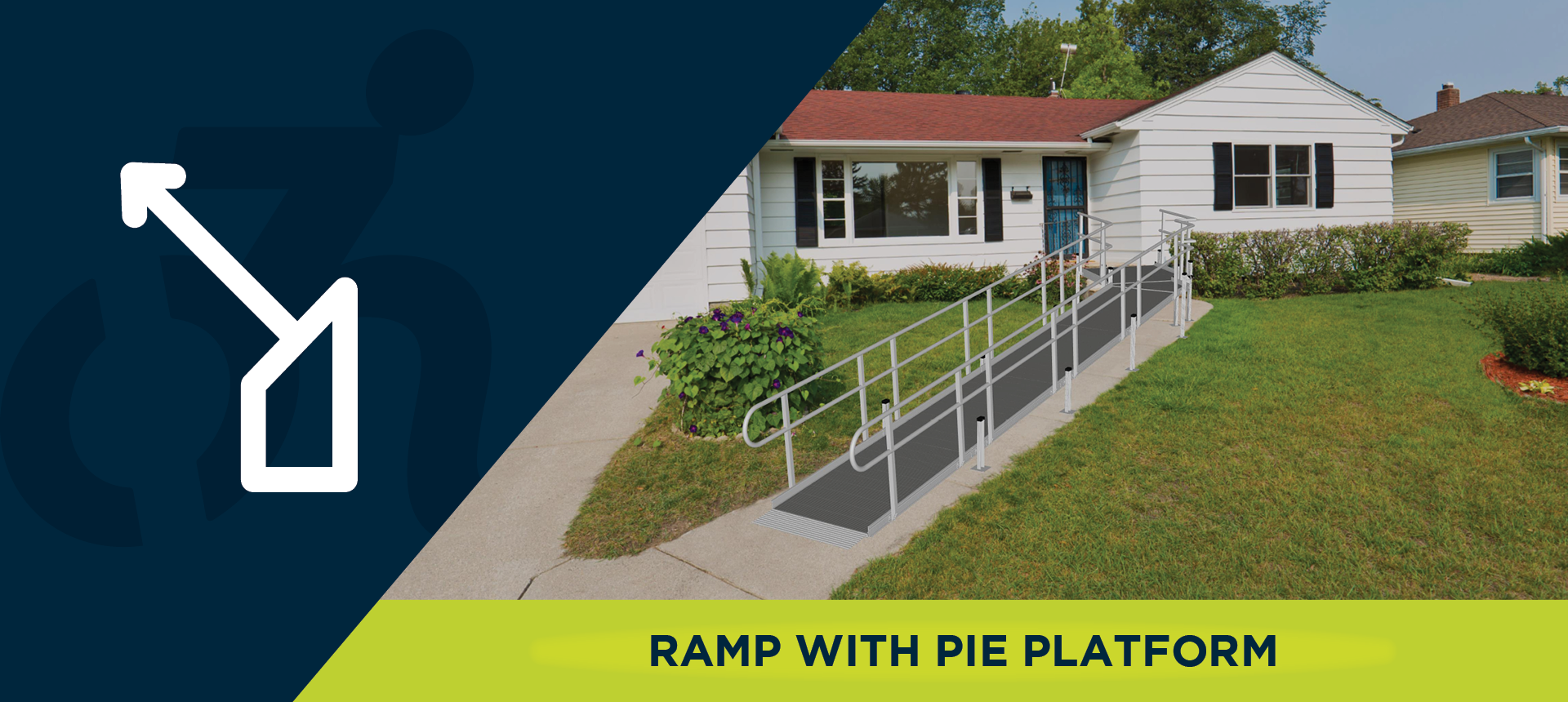 Ramp with a pie platform