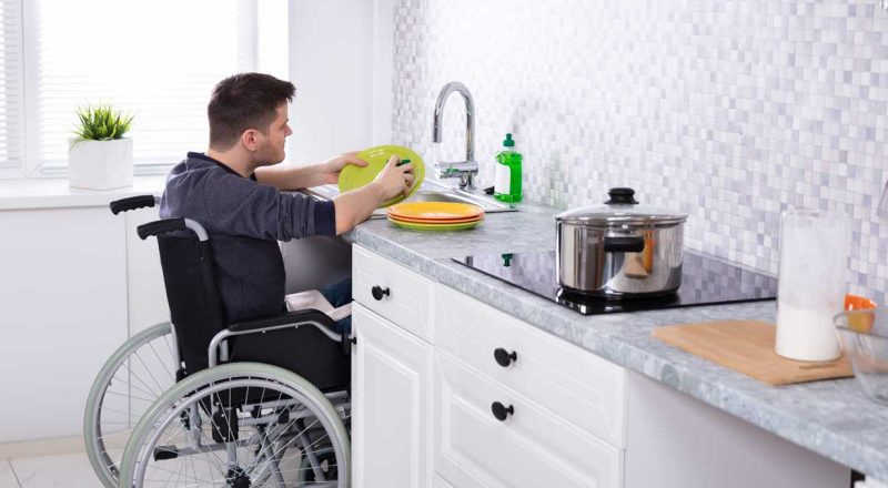 Washing Dishes in a Wheelchair