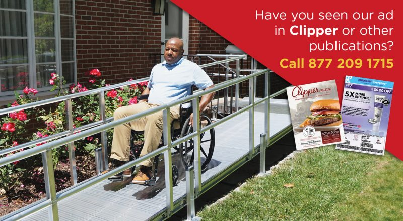 Have you seen our ad in Clipper or other publications? Call 877 209 1715