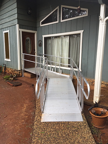 example of aluminum solid ramp